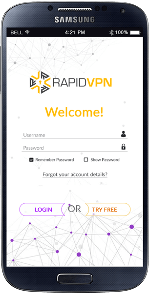 RapidVPN Android Application - 02