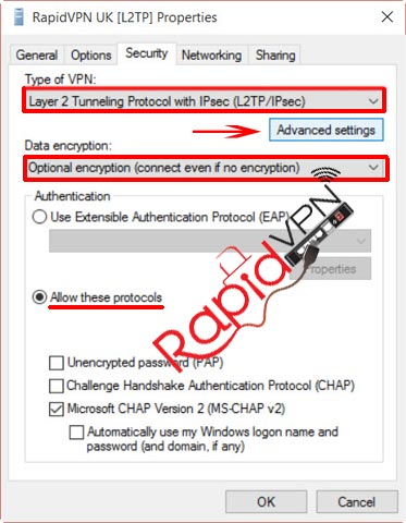 L2TP VPN connection on Windows 8 - Step 7