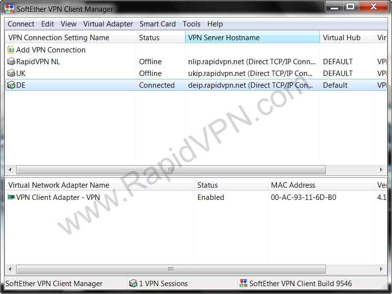SoftEther VPN connection on Windows - Step 9