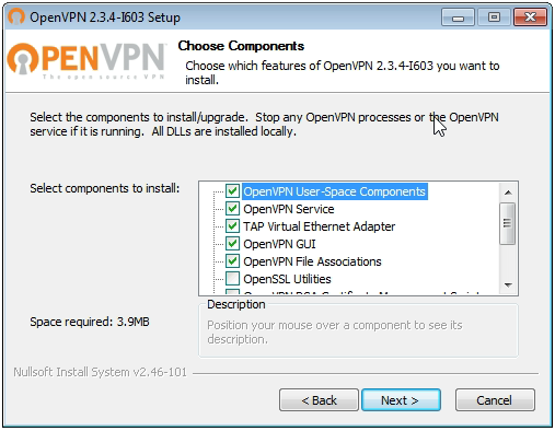 OpenVPN connection on Windows Vista - Step 3