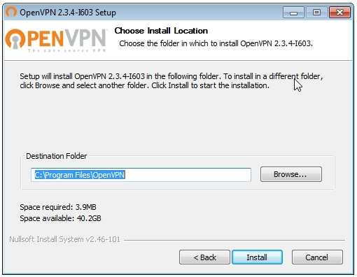 OpenVPN connection on Windows Vista - Step 4