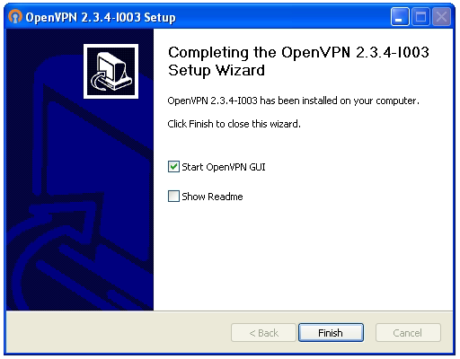 OpenVPN connection on Windows XP - Step 7