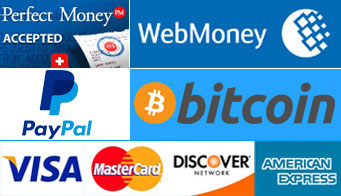Buy VPN with Perfect Money, Bitcoin, WebMoney, PayPal & Credit Card