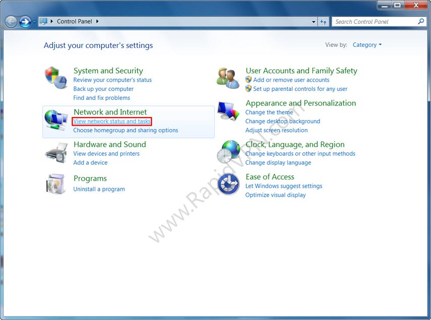 L2TP VPN connection on Windows 7 - Step 2