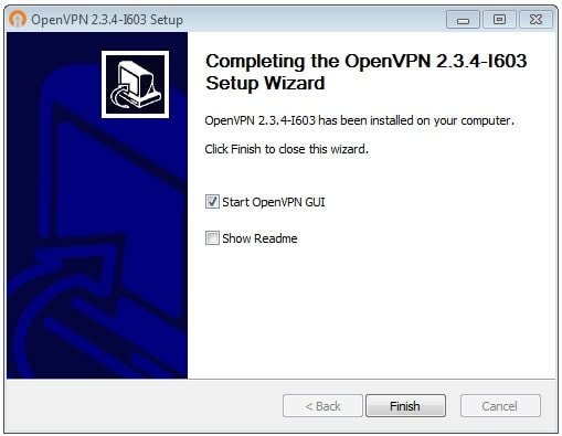 OpenVPN connection on Windows 7 - Step 7