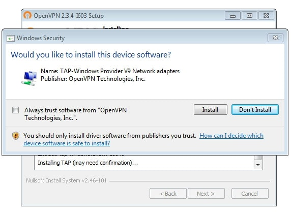 OpenVPN connection on Windows 8 - Step 5