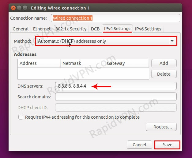 How to fix DNS leak on Linux - Step 3