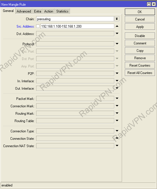 PPTP VPN connection on Mikrotik Router - Step 6