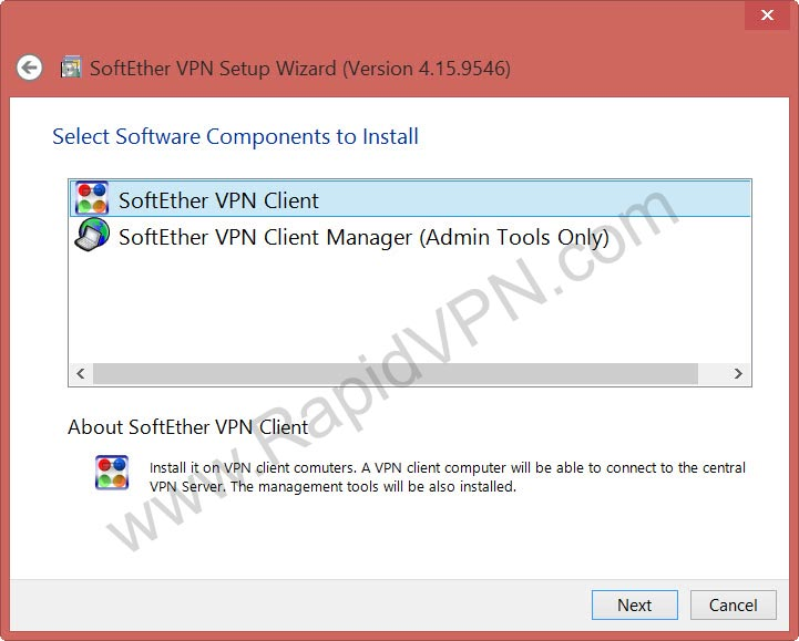 SoftEther VPN connection on Windows - Step 1