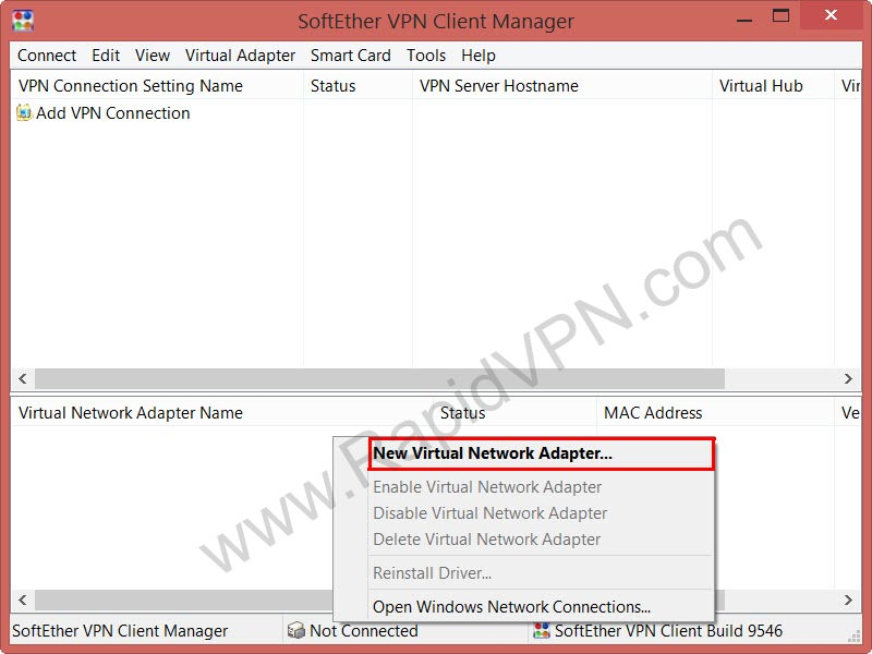 SoftEther VPN connection on Windows - Step 2