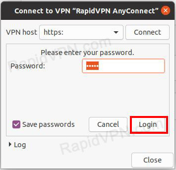 How to install AnyConnect in Ubuntu GUI - Step 5